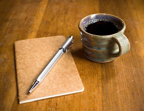 caffe e quaderno